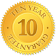 10 year guarantee on all window frames